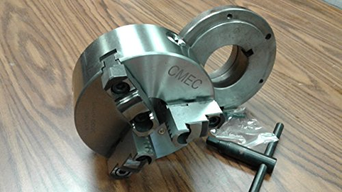6'' 3-JAW SELF-CENTERING LATHE CHUCK top & bottom jaws w. L0 adaper plate by CME