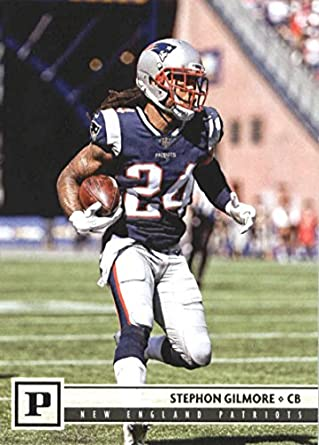 2018 Panini NFL Football #198 Stephon Gilmore New England Patriots Official Trading Card