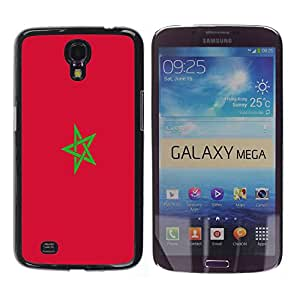 - Flag - - Monedero pared Design Premium cuero del tir¨®n magn¨¦tico delgado del caso de la cubierta pata de ca FOR Samsung Galaxy Mega 6.3 i9200 i9208 Funny House