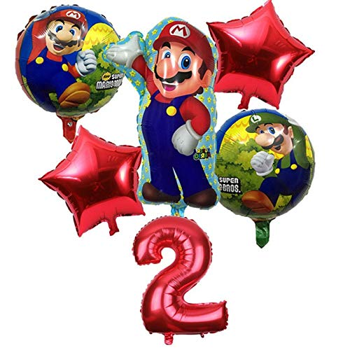 Amazon.com: 6 Pcs/lot Super Mario Bros Balloons Birthday ...