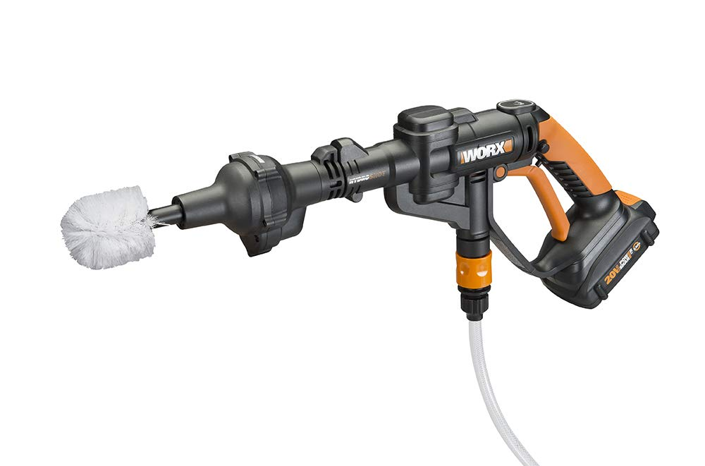 Quick Snap Connection WORX WA4042 Hydroshot Rotary Cleaning Brush Black