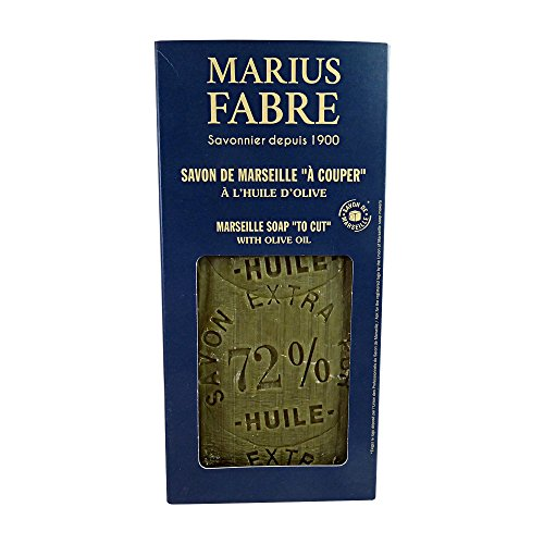 (Marius Fabre Olive Oil Marseille Soap Block with Soap Cutter 2.2 Lb / 1Kg)