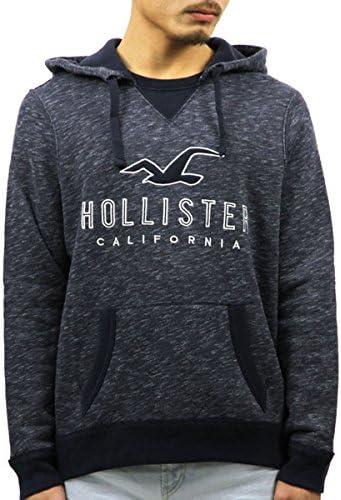 [ホリスター] HOLLISTER 正規品 メンズ フリースプルオーバーパーカー Textured Logo Graphic Hoodie 322-226-0034 並行輸入品