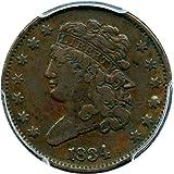 1834 P Half Cents Half Cent VF25 PCGS BN