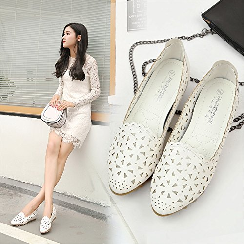 Peas Out Mouth Color Shallow Size for Women's A Sandals Soft Wedge Shoes Hollow Casual PU Heel Bottom Shoes Summer 42 apw7qzxI