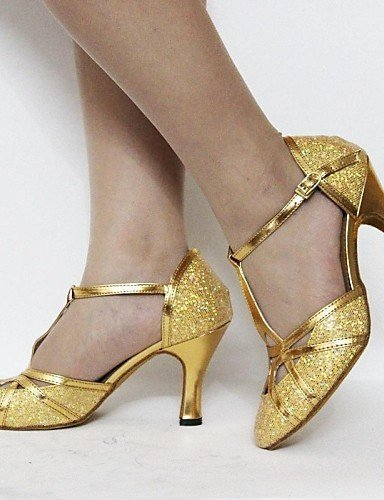 ShangYi Anpassbar - Maßgefertigter Absatz - Kunstleder/Pailetten - Latin/Standard-Tanz Schuhe - Damen Pink
