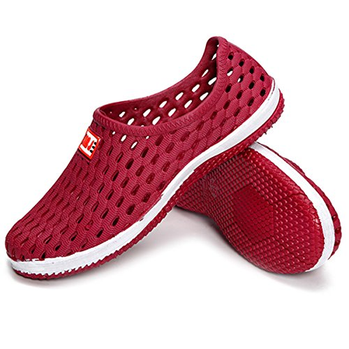 Sommer On Slippers Sandalen Damen Flat Tauchensocken Slip Hohl Schnelltrocknende Outdoor Strandschuhe Atmungsaktive Slip Anti Damen Wasserschuhe Red Walking Pool gracosy Lightweight Walking wxv0ZStqg