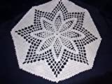 Star Doily in White, Star Flower Lace, 12 inches