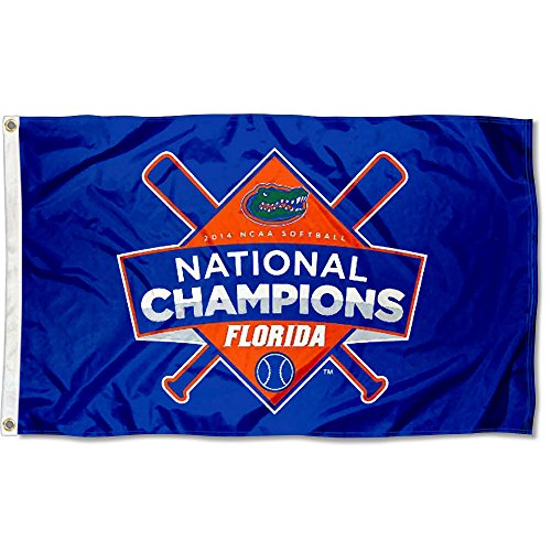 Gators Women's Softball 2014 Champs Flag (Pennant Flag Womens)