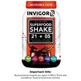 veggie omega 3 - INVIGOR8 Superfood Shake Gluten-Free and Non GMO Meal Replacement Grass-Fed Whey Protein Shake with Probiotics and Omega 3 (645g) … (Chocolate Brownie)