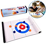 Tabletop Curling Game-Compact Curling Board
