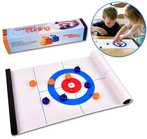 Tabletop Curling Game-Compact Curling Board Game,Mini Table Games for Family, School, Office or Travel Play by ROPODA