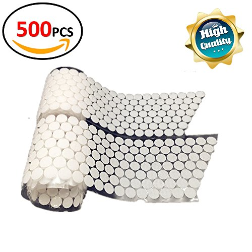 Farielyn-X Self Adhesive Dots,500 PCS250 Pair Sets 0.78inchSticky Back Coins Hook & Loop Self Adhesive Dots Tapes for Craft Decoration in School,Office or Home,White