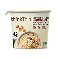 Oatmeal Cups by thinkThin, Instant Prote...