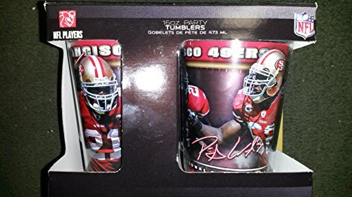 (San Francisco 49ers 16oz NFL Tumbler (4) Pack of Insulated Drinking Glasses Frank Gore Patrick Willis)