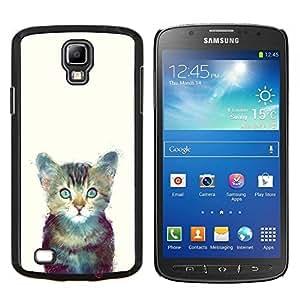 """Be-Star Único Patrón Plástico Duro Fundas Cover Cubre Hard Case Cover Para Samsung i9295 Galaxy S4 Active / i537 (NOT S4) ( Gatito Espacio lindo gato Pintura Furry"""" )"""