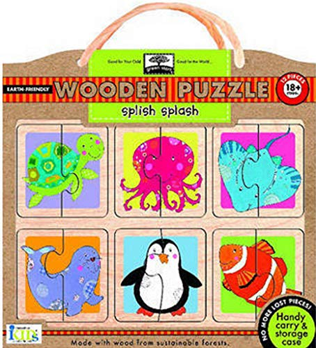 Innovative Kids Green Start Wooden Puzzles: Splish-Splash (18Mos+) Puzzle
