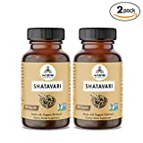 360 Capsules Organic Shatavari –100% Organic Shatavari Powder, 350mg Per Serving   Veg Capsules (2 Pack of 180 Cap Each)… For Sale
