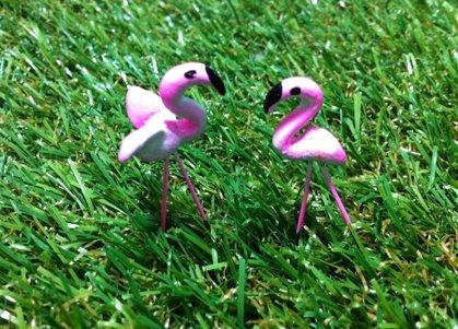 Mini Handmade Flamingo for Fairy Mini Garden (2 pcs) (Fairies Handmade)