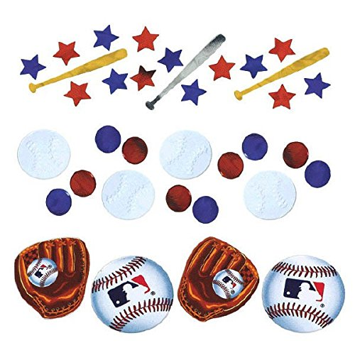 ague Baseball Party Confetti Decoration Value Pack, Foil, 1.2 oz.. ()