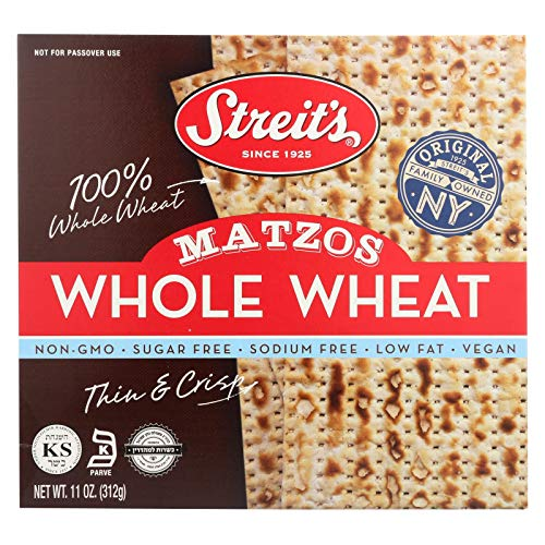 Streit's Matzos Whole Wheat, 11 Ounce (Pack of -
