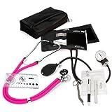 Prestige Medical A5 Aneroid Sphygmomanometer and Sprague-Rappaport Nurse Kit, Neon Pink
