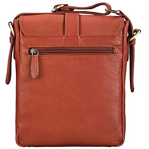 Shoulder Stilord Leather Tablet brown Bag Cognac Men Small Color Cognac brown Vintage Leather 8 Real Inch 4 'jonah' Messenger qXrABwrE