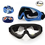 CloverTale Foam Gun and Blaster Face Mask Eye Protection Goggles for Nerf N-Strike Elite Series (2 Masks, 2 Scarves)