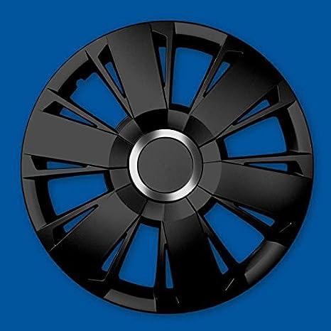 J-Tec 4 x Tapacubos Tapacubos de Rueda Negro 15 pulgadas Sportivo Black