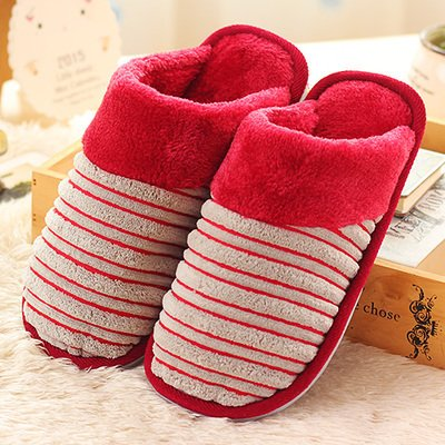 Cotone fankou mop è la casa della principessa cadere durante la primavera e autunno e inverno spesse pantofole di cotone insieme uomini e donne paio di pantofole di cotone ,37-38, grigio