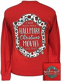 girlie girls hallmark movies christmas long sleeve t shirt adult