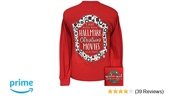 2f4667379 Amazon.com: Girlie Girls Hallmark Movies Christmas Long Sleeve T-Shirt  Adult: Clothing