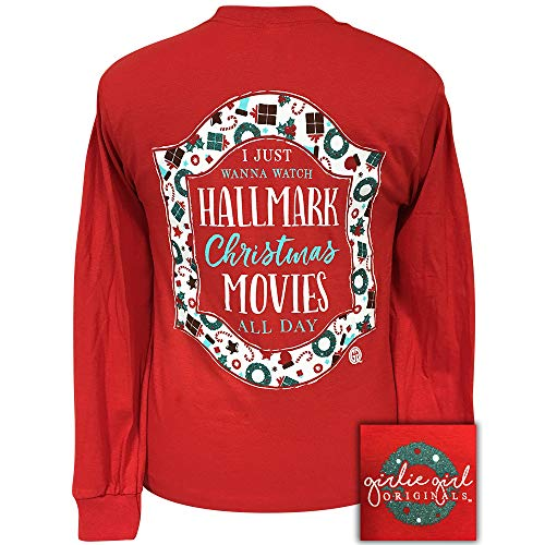 Girlie Girls Hallmark Movies Christmas Long Sleeve T-Shirt Adult (Large)