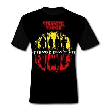 WaWade Men 3D Printed Camiseta Stranger Things - Friends Dont Lie Father?s