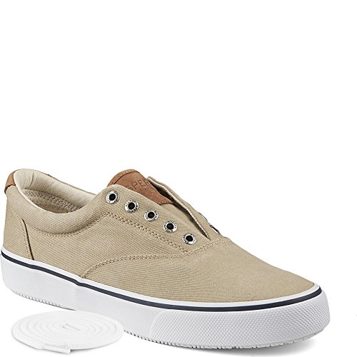 Sperry Top-Sider Men's Salt Washed Striper LL CVO Laceless,Chino,9.5 M US