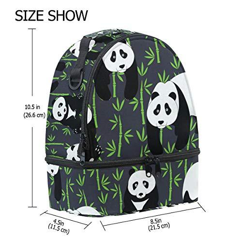 banboo el de de para panda hombro aislamiento la Bolsa para pincnic almuerzo correa con con diseño con ajustable de Alinlo escuela q0BxH6n