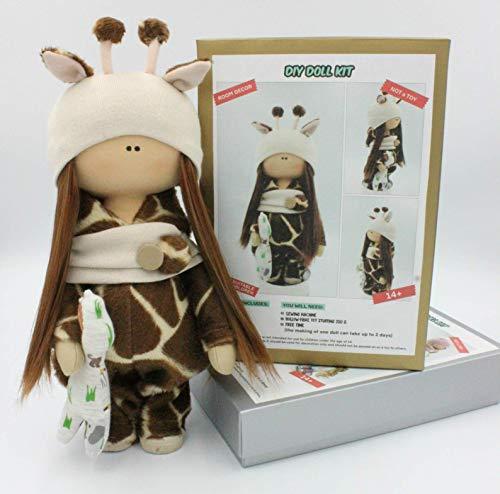 DIY Doll Kit Make your own Interior Doll (Giraffe) from D'EUNA InteriorDolls