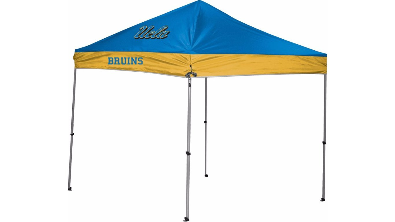 Rawlings NCAA Instant Pop-Up Canopy Tent with Carrying Case, 9x9 (All Team Options)
