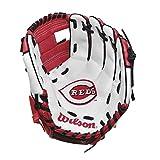 "Wilson A200 10"" Cincinnati Reds Glove Right Hand Throw, Red/White/Black"