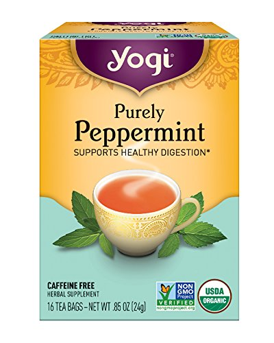 Yogi Tea, Purely Peppermint, 16 Count (Pack of 6), Packaging May Vary