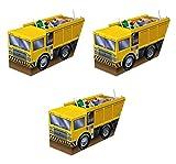 Beistle 59975, 3 Piece 3-D Dump Truck Centerpieces, 5.25