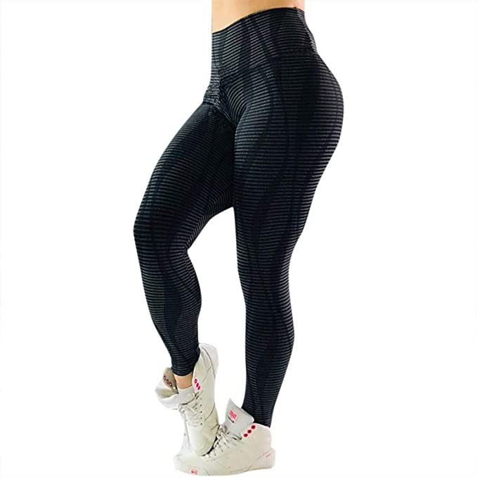 Pongfunsy High Waisted Leggings for Women | Workout & Yoga Pants Plus Size Tummy Control Leggings Workout Running Tights