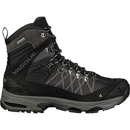 Backpacking Mid Gtx Boot (Vasque Men's Saga Gtx Waterproof Mid Backpacking Boots Jet Black 12)