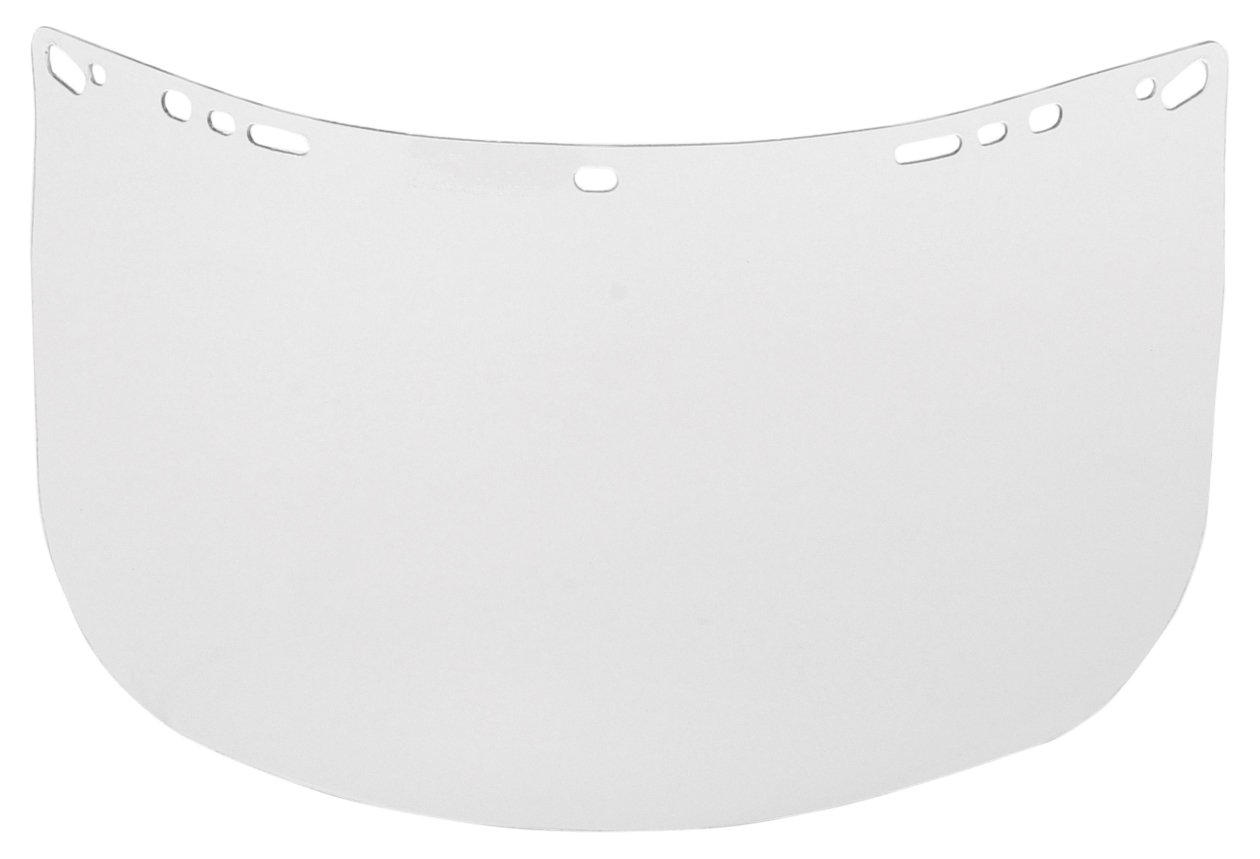 Visor, Clear, 8InH x 15InW x 0.06In Thick