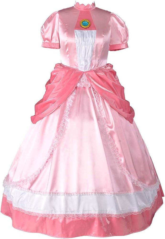 miccostumes Women\'s Plus Size Princess Peach Cosplay Costume Dress