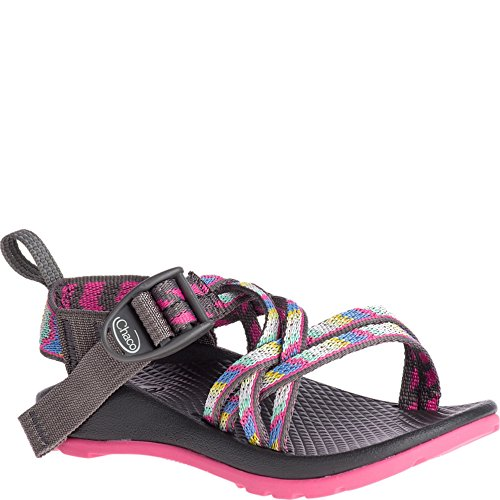 Chaco Girls' ZX1 Ecotread Kids Sport Sandal, Fletched Pink, 10 Medium US Toddler by Chaco