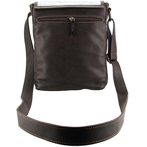 LINDENMANN- Señoras bolsos de hombro / de hombres el arte de unisex casual cinturón, 80102.006 marrón oscuro