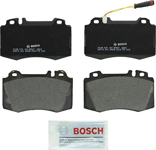 - Bosch BP847 QuietCast Premium Semi-Metallic Disc Brake Pad Set For: Mercedes-Benz CL500, CL55, CLS500, E550, E55, ML430, ML500, ML55, S500, S55, S600, SL500, SL550, SL600, SLK350, SLK55, Front