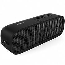 AUKEY Altoparlante PortatileWireless Cassa audio Bluetooth4.1 con Microfono e Funzionedi AUX, 2x3W Drivere14Ore di Riproduzioneper iPhone Samsung HTC Smartphones(Nero