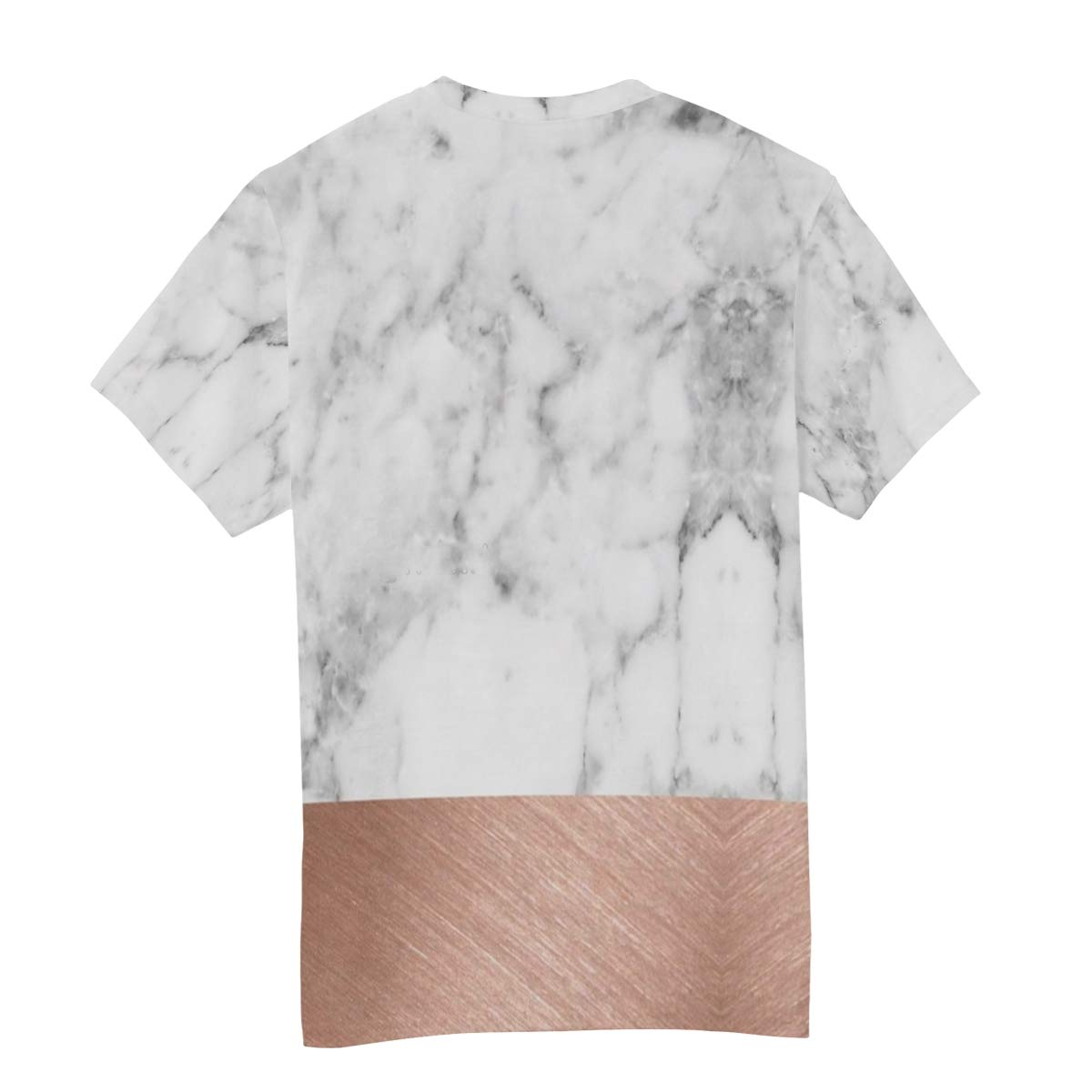 Horatiood Huberyyd Rose Gold Marble Mens T Shirts Graphic Funny Body Print Short T-Shirt Unisex Pullover Blouse